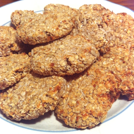 Banana cookies with sunflower seeds and coconut :)